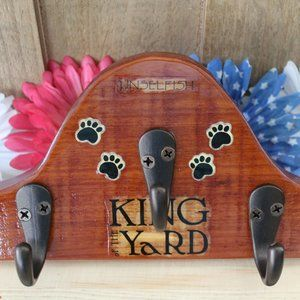 Other - New Dog Pet Leash Holder Wall Hangar Handcrafted